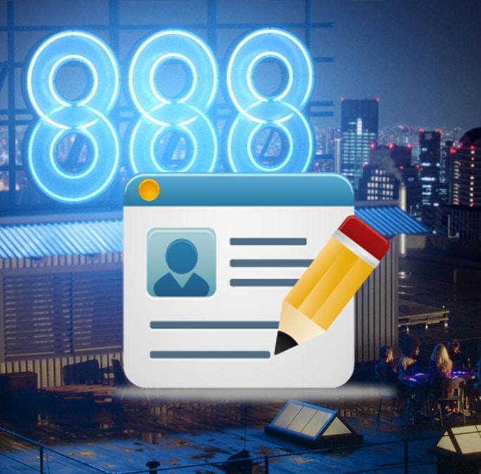 Титульное изображение к статье о регистрации на 888