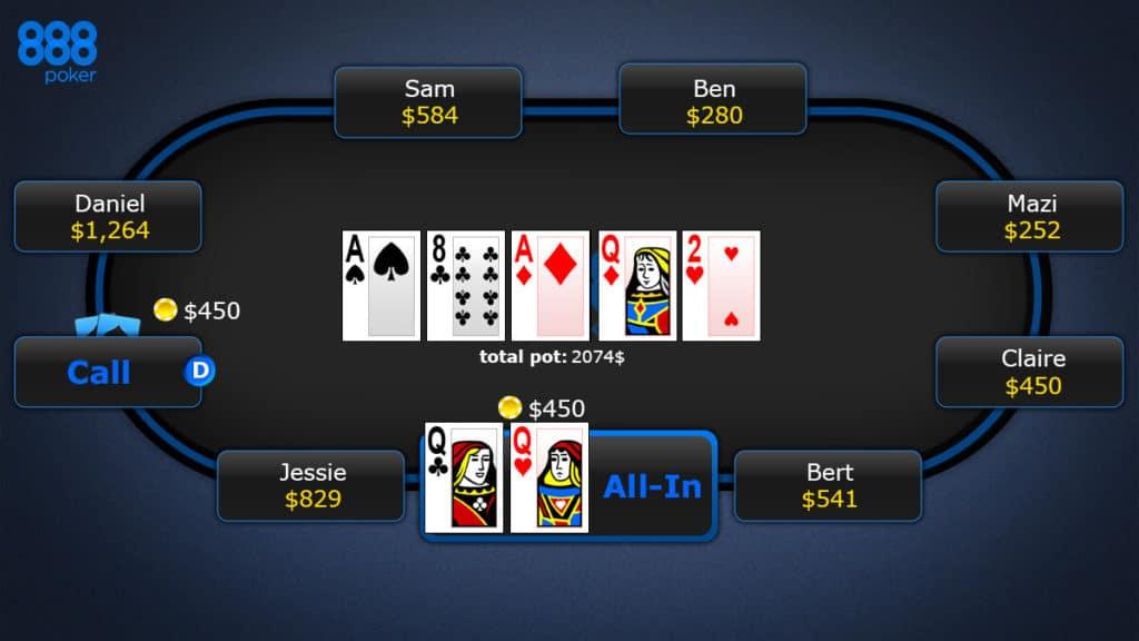 Техасский Холдем в 888 покер