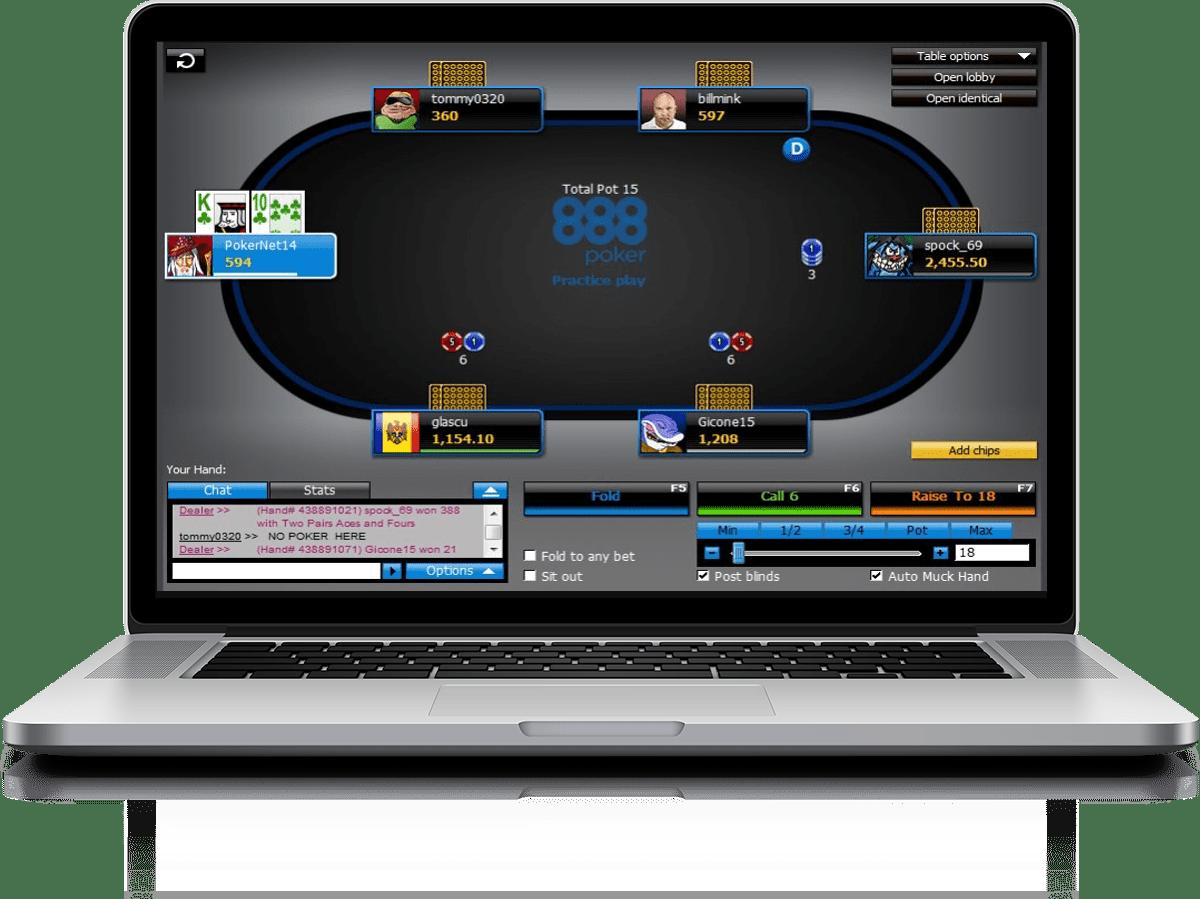 скачать покер 888