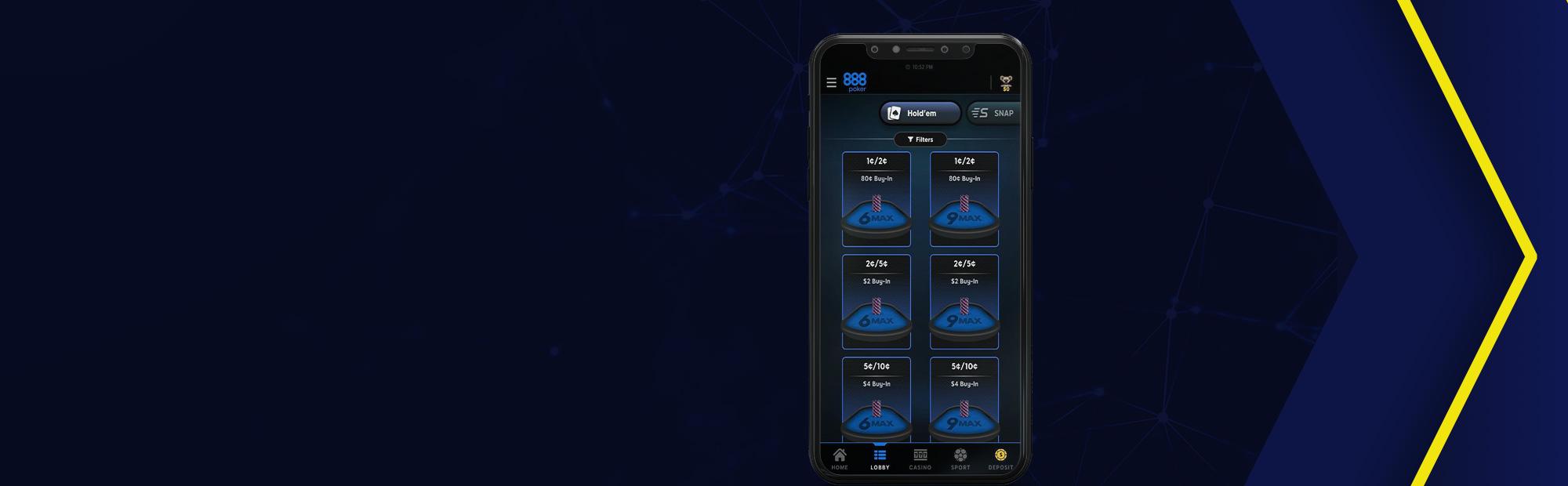 Клиент 888poker на iOS.